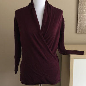 New York and Company Faux Wrap Sweater